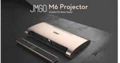 € 270 avec coupon pour Projecteur DLP portable JMGO M6 Android 7.0 1GB DDR3 8GB Soutien 4k 1080P WIFI BT TV LED MINI Version projecteur-Globe de BANGGOOD