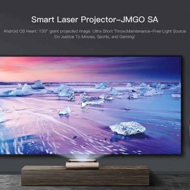 €1818 with coupon for JMGO SA Ultra Short Throw 2500 ANSI Lumens Laser Projector – DEEP BROWN from GearBest