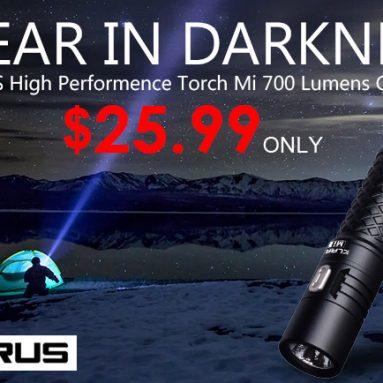 Klarus Mi7 Không thấm nước 700lm CREE XP-L LED Đèn pin Chỉ $ 25.99 từ Zapals