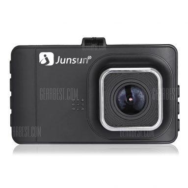 $ 29 z kuponem dla JUNSUN T518 Samochód Dash Cam 1080P Full HD DVR - CZARNY od GearBest