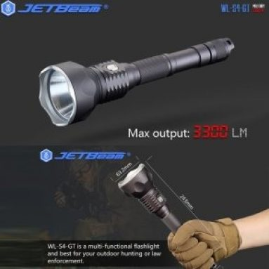 $74 with coupon for Jetbeam WL – S4 – GT Searchlight LED Flashlight from GearBest