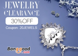 30% OFF for Jewelry Clearance from BANGGOOD TECHNOLOGY CO., LIMITED