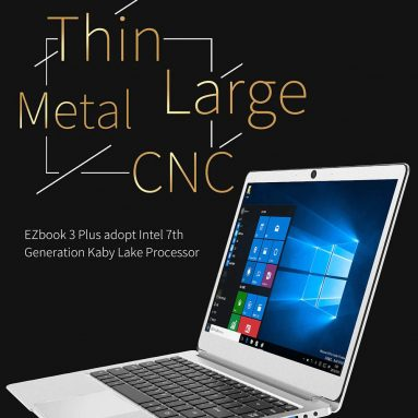 €351 with coupon for Jumper EZbook 3 Plus 14 Inch laptop Windows 10 Intel Core M3-7Y30 8G RAM 128G SSD Metal Case from BANGGOOD