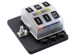 30% OFF On 6 Way Blade Fuse Box Holder with LED Warning Light! from Tomtop INT