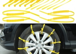$3 Discount On 10pcs Tire chains Winter Tyres wheels Snow Chains! from Tomtop INT