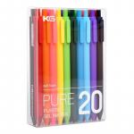 9 € z kuponem na KACO PURE 20 sztuk / partia Cukierkowe kolorowe długopisy żelowe 0.5 mm Wielokolorowe długopisy z żelowym atramentem Typ prasy Pisak Biurowe Artykuły szkolne z magazynu UE CZ BANGGOOD