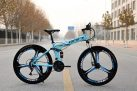 €244 with coupon for KAIMARTE 26 Inch 21-Speed Folding Mountain Bike Off-road BMX Bikes Double Disc Brakes Students and Kids Road Bikes Bicicleta Bicycle from EU CZ warehouse BANGGOOD