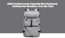 $ 23 z kuponem na plecak KAKA Fashion Large Capacity Men - BLACK marki Gearbest