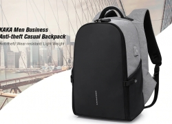 $30 with coupon for KAKA Men Business Anti-theft Casual Backpack – GRAY GOOSE from GearBest