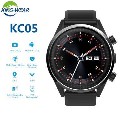 € 89 với phiếu giảm giá cho KINGWEAR KC05 4G 8MP Camera IP67 WIFI GPS chống nước có thể tháo rời Dây đeo đồng hồ thông minh từ BANGGOOD
