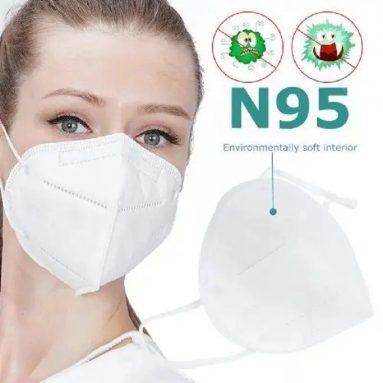 € 71 dengan kupon untuk 50 Pcs KN95 N95 FFP2 KF94 Masker Wajah Tahan Debu 4 Ply PM2.5 Masker Anti Partikulat Anti-tetesan Respirator Anti-bakteri dengan Sertifikasi CE dari GEARBEST