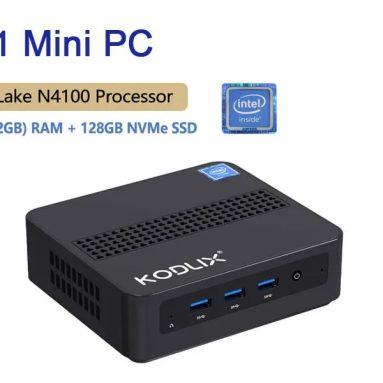 181 € s kuponom za KODLIX GD41 Mini računalo Intel Celeron N4120 8 GB DDR4 128 GB M.2 2242 PCIe SSD stolno računalo četverojezgreni 1.1 GHz do 2.6 GHz Intel UHD Graphics 600 HDMI TF kartica Solt BT5.0 Windows 10 Početna - EU utikač iz BANGGOOD-a