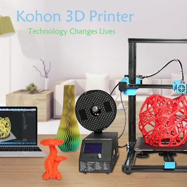 $359 with coupon for KOHON KH01 Aluminum Alloy Quick Assembly 3D Printer – BLACK US PLUG from GearBest