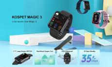 16 евро с купоном на [Real SpO2 Monitor] KOSPET MAGIC 3 1.71-дюймовый 3D-изогнутый полностью сенсорный монитор сердечного ритма, артериального давления 50+ Watch Face 20 Смарт-часы в спортивном режиме от BANGGOOD