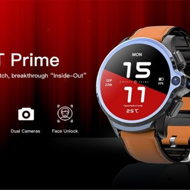 136 مع كوبون لـ KOSPET Prime 4G Smart Watch Phone 3GB + 32GB 1.6 inch IPS Screen 400 x 400 Resolution Dual Cameras 1260mAh Battery Face ID Unlock from GEARBEST