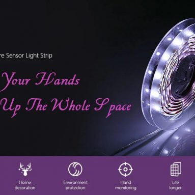 €3 with coupon for KPSSDD Gesture Sensor Light Strip – WHITE 1PC from GearBest