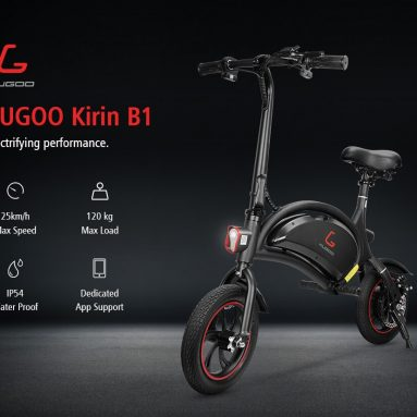 322 € med kupong för KUGOO Kirin B1 Folding Moped Electric Bike EU WAREHOUSE från GEEKBUYING