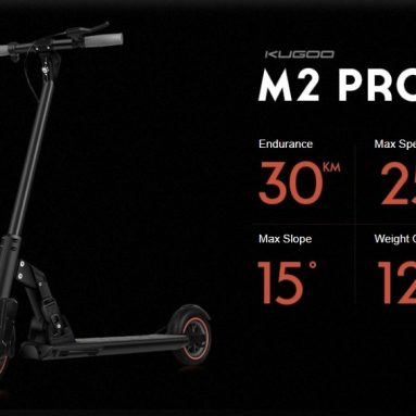 305 € med kupong för KUGOO M2 PRO Folding Electric Scooter EU-lager från GEEKBUYING