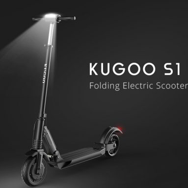 €237 with coupon for  KUGOO S1 Folding Electric Scooter 350W Motor LCD Display Screen 3 Speed Modes 8.0 Inches Solid Rear Anti-Skid Tire IP54 Waterproof EU warehouse from GEEKBUYING