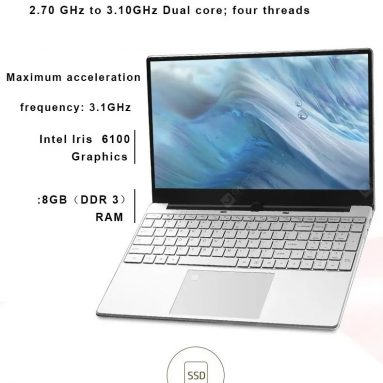 $ 394 na may kupon para sa KUU K1 Laptop Intel Core i5-5257U Processor 15.6 Inch IPS Screen Office Notebook 8GB RAM Windows 10 - 256GB mula sa CN / USA Warehouse GEARBEST