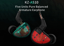 $59 with coupon for KZ AS10 5BA HiFi Stereo Earphone In-ear Earbuds  from GearBest