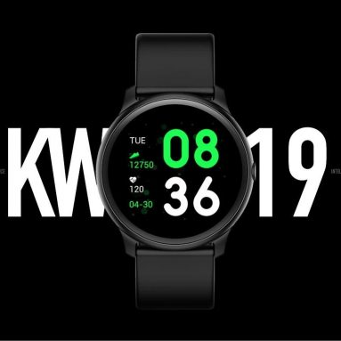 $11 with coupon for KingWear KW19 Smartwatch Heart Rate Monitor Activity Fitness Tracker from GEARVITA