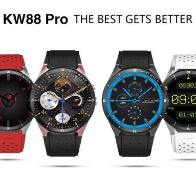 $ 79 s kuponem pro KingWear KW88 Pro 3G Smartwatch Phone - BLACK od GearBest