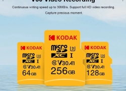 €30 with coupon for Kodak U3 A1 V30 Micro SD Card 256GB 100MB/s Reading Speed 4K UHD Recording from GEARVITA