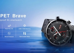 $59 with coupon for Kospet Brave 4G Smartwatch Phone – BLACK from GearBest