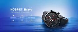 € 52 mit Gutschein für Kospet Brave IP68 Wasserdichtes Bluetooth-Telefon 2G + 16G 4G-LTE Blutdruck 8 Sportmodus Smart Watch Phone von BANGGOOD