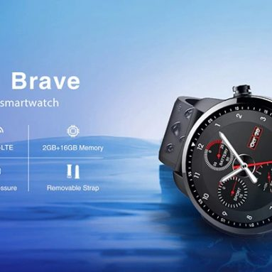 €52 with coupon for Kospet Brave IP68 Waterproof bluetooth Call 2G+16G 4G-LTE Blood Pressure 8 Sports Mode Smart Watch Phone from BANGGOOD