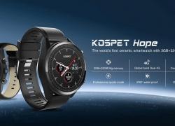 € 125 với phiếu giảm giá cho điện thoại đồng hồ đeo tay Kospet Hope 3G + 32G 4G-LTE