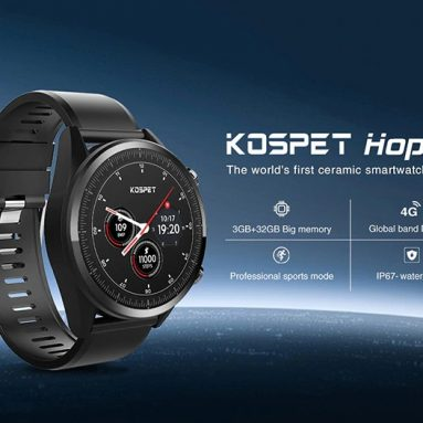 117 € με κουπόνι για το Kospet Hope 3G + 32G 4G-LTE Ρολόι τηλέφωνο 1.39 ′ AMOLED IP67 WIFI GPS / GLONASS 8.0MP Android7.1.1 Smart Watch EU UK WAREHOUSE από την BANGGOOD
