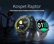 $ 31 mit Gutschein für Kospet Raptor Outdoor Smart Watch Robuste 1.3-Zoll-Smartwatch 30 Tage 20 Sportmodi IP68 Wasserdicht Original Creative UI Watch Face - Schwarz von GEARBEST