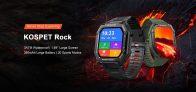 28 € avec coupon pour Kospet Rock Montre intelligente à grand écran de 1.69 pouces Moniteur de fréquence cardiaque Pression artérielle SPO2 20 Modes sportifs Montre intelligente d'extérieur Bluetooth 5.0 à trois épreuves de BUYBESTGEAR