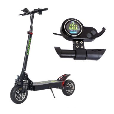 €575 with coupon for LANGFEITE L8S 2019 Version 20.8Ah 48.1V 800W*2 Dual Motor Folding Electric Scooter Color Display DC Brushless Motor 45km/h Top Speed 55km Range EU Plug + GIFT from BANGGOOD