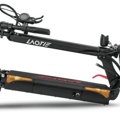 LAOTIE L661 6V 48W 500Ah 접이식 스쿠터 전기 스쿠터 23.4 인치 10km / h 최고 속도 40km 주행 거리 이중 브레이크 시스템 최대 하중 60kg EU 플러그 BANGGOOD