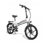 601 € s kupónom na LAOTIE PX5 48V 10.4Ah 350W 20 palcový skladací elektrický mopedový bicykel 35 km / h Najvyššia rýchlosť 80 km Kilometrový výkon E-bike Zástrčka EÚ - biela od BANGGOOD
