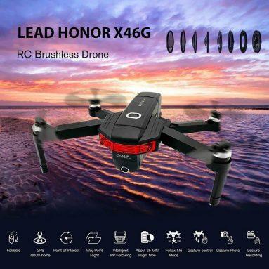 $ 179 với phiếu giảm giá cho LEAD HONOR X46G GPS 5G WiFi FPV với 4K Máy ảnh kép Brushless RC Drone - Ba pin màu đen với Túi xách từ GEARBEST