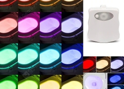 $ 3 med kupon til LED 16 Color Induction Toilet Light fra GEARBEST
