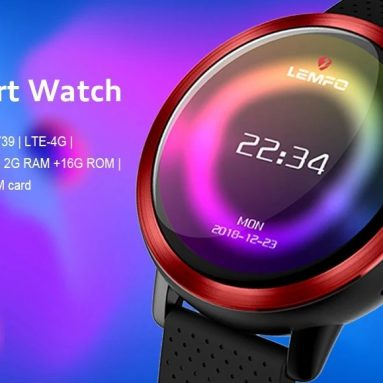 €120 with coupon for LEMFO LEM8 LTE 4G Smart Watch Phone from BANGGOOD