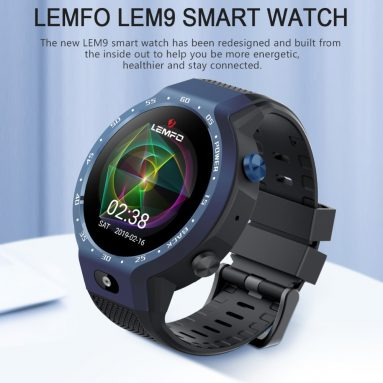 €116 with coupon for LEMFO LEM9 MTK6739+NRF52840 4G Google Play Built-in GPS Music 5MP Camera 1G+16G Watch Phone from BANGGOOD