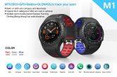 $ 45 mit Gutschein für LEMFO M1S Smartwatch Telefon GPS-Positionskompass IP67 Waterproof von GEARVITA