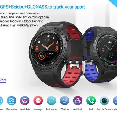 $45 with coupon for LEMFO M1S Smartwatch Phone GPS Positioning Compass IP67 Waterproof from GEARVITA