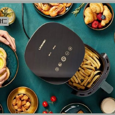 75 € s kupónem pro LIVEN G-5 Smart Oil-free Friter od XIAOMI YOUPIN 1400W Power 2.5L Capacity Fat-free for Home from EU ES WAREHOUSE BANGGOOD