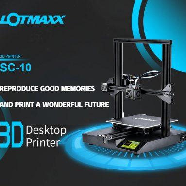 € 234 na may kupon para sa LOTMAXX SC - 10 3.5 pulgadang 3D Printer na Mataas na Katapat na Screen ng Pag-akit - Itim na EU Plug + 2pcs 200g Filament mula sa GEARBEST