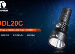 $54 with coupon for LUMINTOP ODL20C Strong Light Outdoor Flashlight from Gearbest