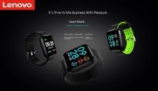 $ 39 з купоном на Lenovo E1 Global Watch Global Edition - Чорний корпус із цинкового сплаву 1.33 дюйма - чорний від GEARBEST
