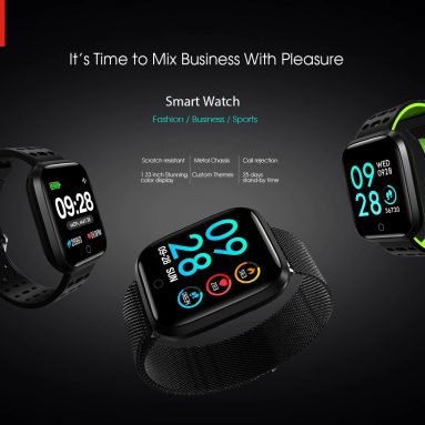 24 € med kupon til Lenovo E1 1.33-tommer TFT-skærm Sports Smartwatch Global version fra GEARBEST