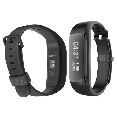 $15 with coupon for Lenovo HW01 Smart Wristband Black from GearBest